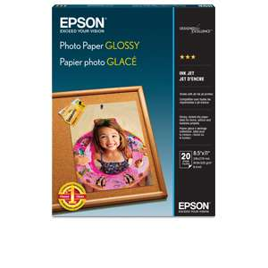 "Alternate view 2 for Epson Glossy Photo Paper 8.5""x11"" 20pk"