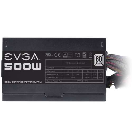 Alternate view 6 for EVGA 500W Power Supply Unit
