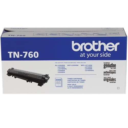 Alternate view 4 for Brother Genuine TN-760 High Yield Toner Cartridge