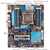 Alternate view 4 for ASUS P9X79 PRO and Intel Core i7-3930K CPU Bundle