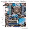 Alternate view 2 for ASUS P9X79 DELUXE Intel X79 LGA 2011 Mother Bundle