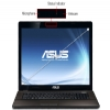 "Alternate view 5 for ASUS 17.3"" Core i7 8GB/750GB GT610M Laptop"