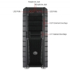 Alternate view 5 for CoolerMaster HAF XM Mid Tower Case 2x USB 3.0