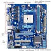 Alternate view 3 for GIGABYTE GA-A55M-S2V AMD A-Series Motherboard