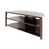Alternate view 5 for Cravin TDIIX50W 50in wide Metal Glass TV Stand