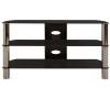 Alternate view 2 for Cravin TDLEB501B 50in wide Metal Glass TV Stand