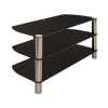 Alternate view 3 for Cravin TDLEB501B 50in wide Metal Glass TV Stand