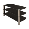 Alternate view 4 for Cravin TDLEB501B 50in wide Metal Glass TV Stand