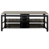 "Alternate view 2 for Cravin TDLBH52 55"" Black Metal Glass TV Stand"