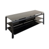 "Alternate view 4 for Cravin TDLBH52 52"" Black Metal Glass TV Stand"