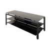 "Alternate view 5 for Cravin TDLBH52 55"" Black Metal Glass TV Stand"