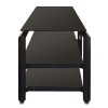 "Alternate view 7 for Cravin TDLBH52 55"" Black Metal Glass TV Stand"
