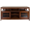 Alternate view 2 for Cravin TDYAB6028 Walnut Finish AV HDTV Credenza