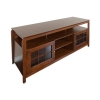 Alternate view 3 for Cravin TDYAB6028 Walnut Finish AV HDTV Credenza