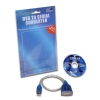 Alternate view 3 for Sabrent 1ft USB 2.0 to DB9 Cable Adapter - Blue