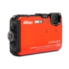 Alternate view 2 for Nikon AW100 COOLPIX Orange 16MP Digital Camera
