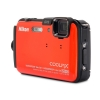 Alternate view 3 for Nikon AW100 COOLPIX Orange 16MP Digital Camera