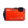 Alternate view 4 for Nikon AW100 COOLPIX Orange 16MP Digital Camera