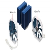 Alternate view 5 for Phanteks Dual Heat Pipe Multi-Socket CPU Fan Blue