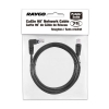 Alternate view 4 for Raygo 7ft Cat5e 90 Degree Snagless Patch Cbl Black