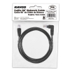Alternate view 5 for Raygo 7ft Cat5e 90 Degree Snagless Patch Cbl Black