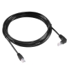 Alternate view 2 for Raygo 14ft Cat5e 90 Degree Snagless Patch Cbl Blk