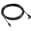 Alternate view 2 for Raygo 14ft Cat6 90 Degree Snagless Patch Cbl Black