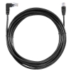 Alternate view 3 for Raygo 25ft Cat6 90 Degree Snagless Patch Cbl Black