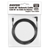 Alternate view 4 for Raygo 25ft Cat6 90 Degree Snagless Patch Cbl Black