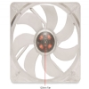Alternate view 3 for SilenX Effizio Silent Red LED 120mm Case Fan