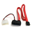 Alternate view 2 for StarTech SLSATAF20RA Slim SATA to SATA w/LP4 Cable
