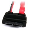 Alternate view 3 for StarTech SLSATAF20RA Slim SATA to SATA w/LP4 Cable