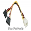 Alternate view 3 for StarTech LP4 to Dual SATA Power Y 1ft Cable