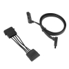 Alternate view 6 for Ultra SATA II &amp; III Data/Power Cable w/ 90 Degree