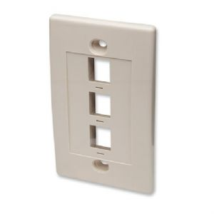 Intellinet WALL PLATE 3 OUTLET BLANK IVORY