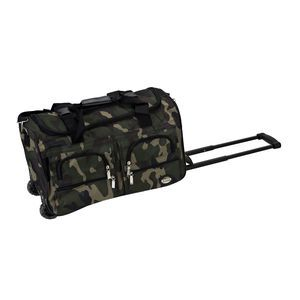 "ROCKLAND 22"" ROLLING DUFFLE BAG CAMOFLAGE"