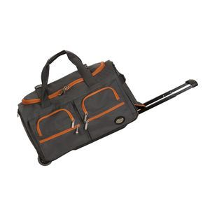 "ROCKLAND 22"" ROLLING DUFFLE BAG CHARCOAL"