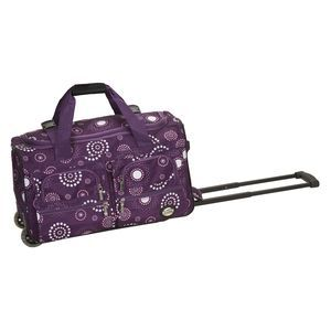 "ROCKLAND 22"" ROLLING DUFFLE BAG PURPLE PEARL"