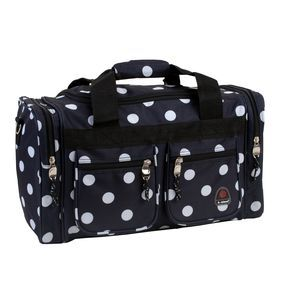 "ROCKLAND 19"" TOTE BAG BLACKDOTS"