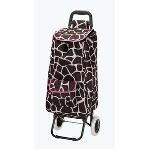 ROCKLAND ROLLING SHOPPING TOTE PINKGIRAFFE