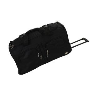 "ROCKLAND 30"" ROLLING DUFFLE� BLACK"