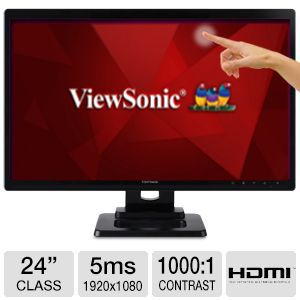 "ViewSonic TD2420 24"" Class Multitouch LED Monitor"