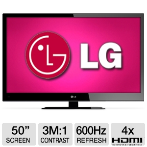 LG 50&quot; 1080p 600Hz WiFi Ready 3D Plasma HDTV