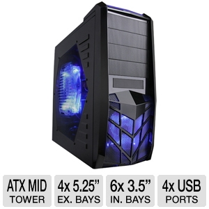 Apevia X-Trooper Mid Tower Case w/ Blue LED