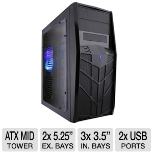 Apevia X-Trooper Jr Mid Tower Case w/ Blue LED