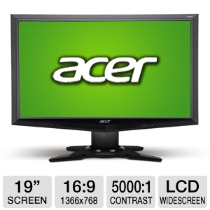 Acer G185HV 19&quot; Class Widescreen LCD Monitor