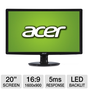 "Acer S201HL bd 20"" Widescreen LED Backlit M REFURB"