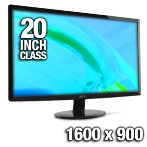 Acer S201HL bd 20&quot; Widescreen LED Backlit Monitor