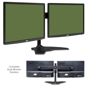 Two Acer S201HL bd 20 inch Widescreen LED Backlit Monitors