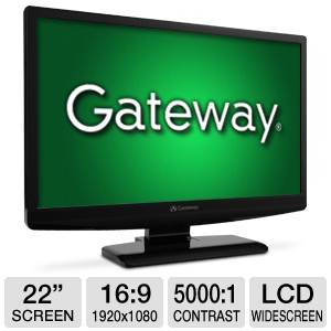 "Gateway 22"" Class Widescreen 5ms LCD Monitor"